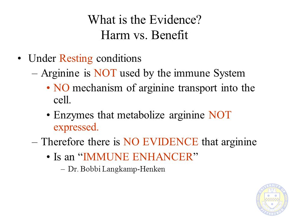 What is the Evidence Harm vs. Benefit