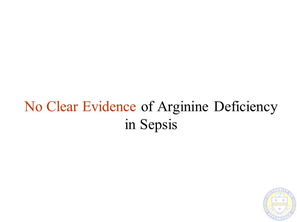 No Clear Evidence of Arginine Deficiency in Sepsis