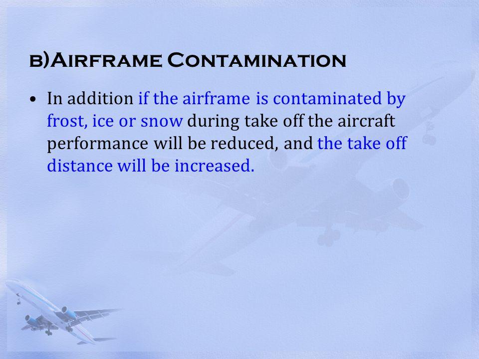 b)Airframe Contamination