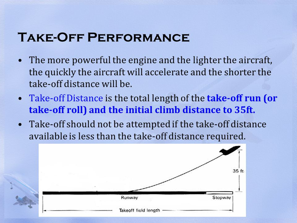 Take-Off Performance