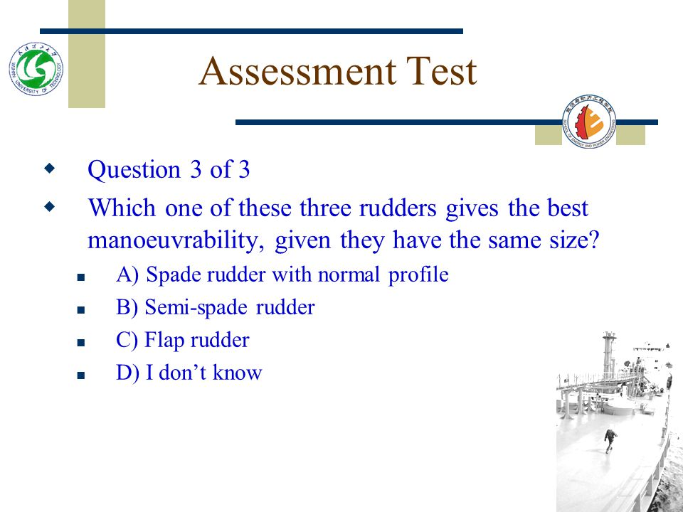 Assessment Test Question 3 of 3