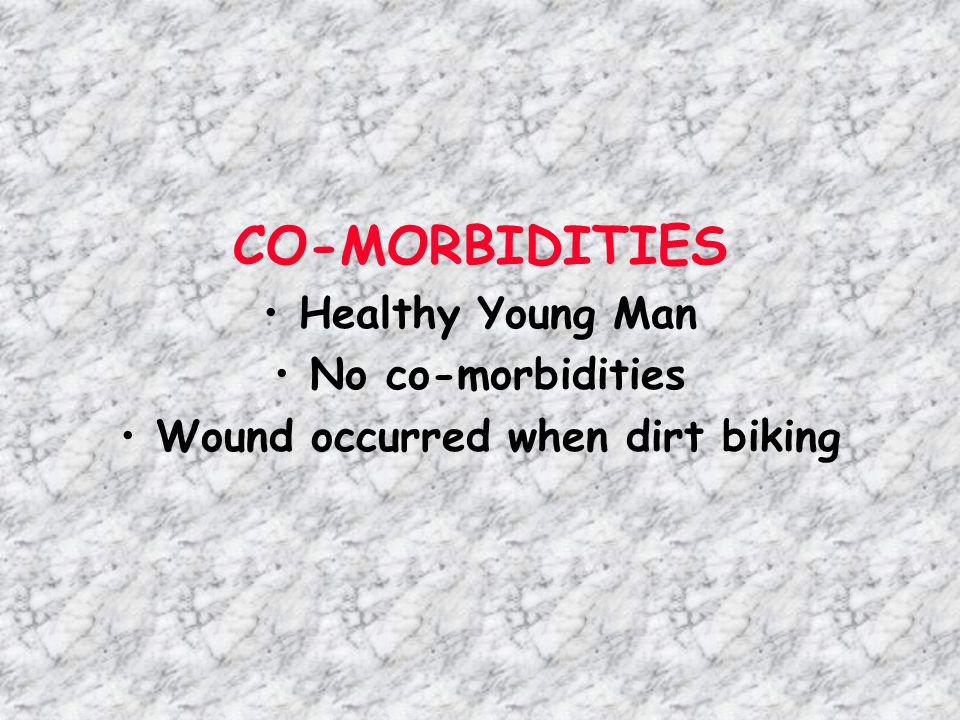 Wound occurred when dirt biking