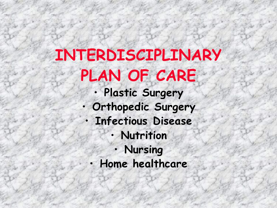 INTERDISCIPLINARY PLAN OF CARE
