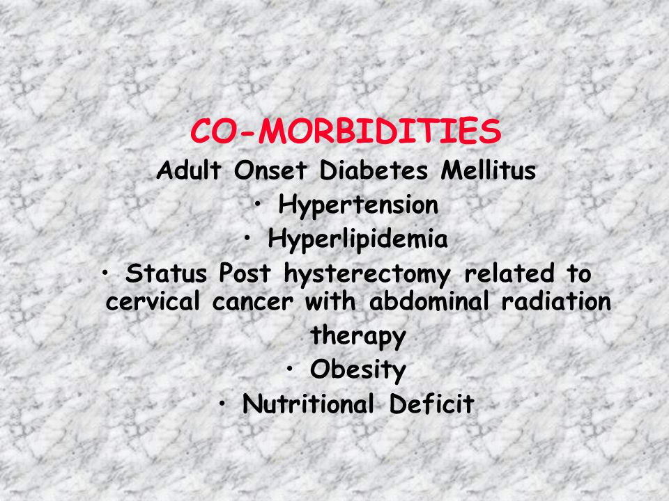 Adult Onset Diabetes Mellitus
