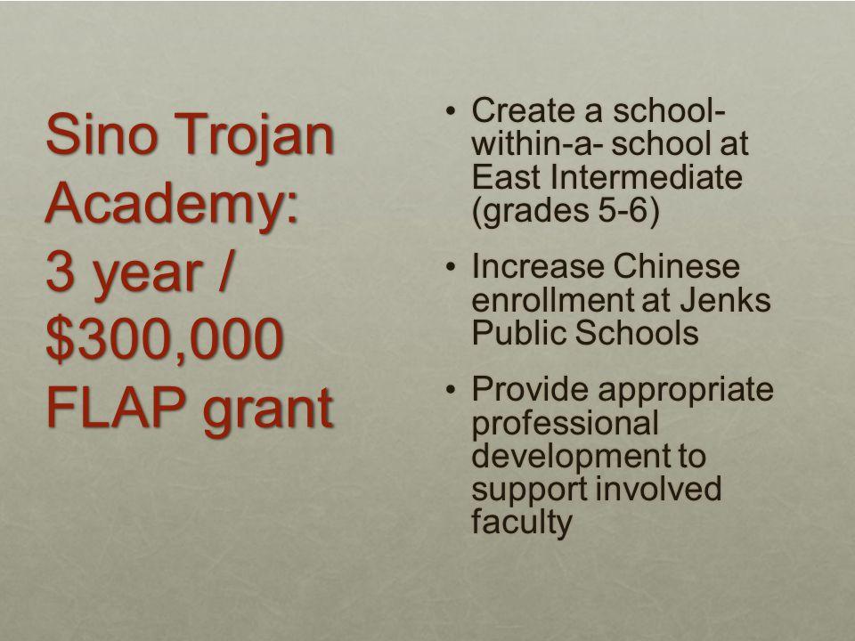 Sino Trojan Academy: 3 year / $300,000 FLAP grant