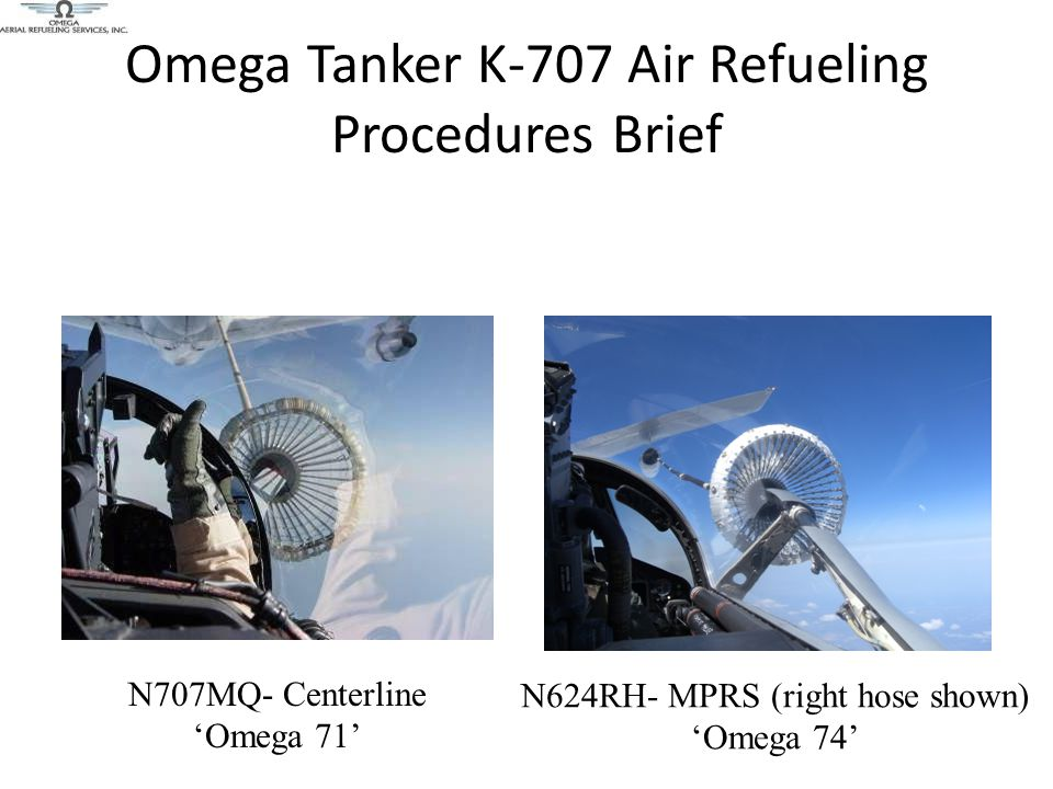 Omega Tanker K-707 Air Refueling Procedures Brief