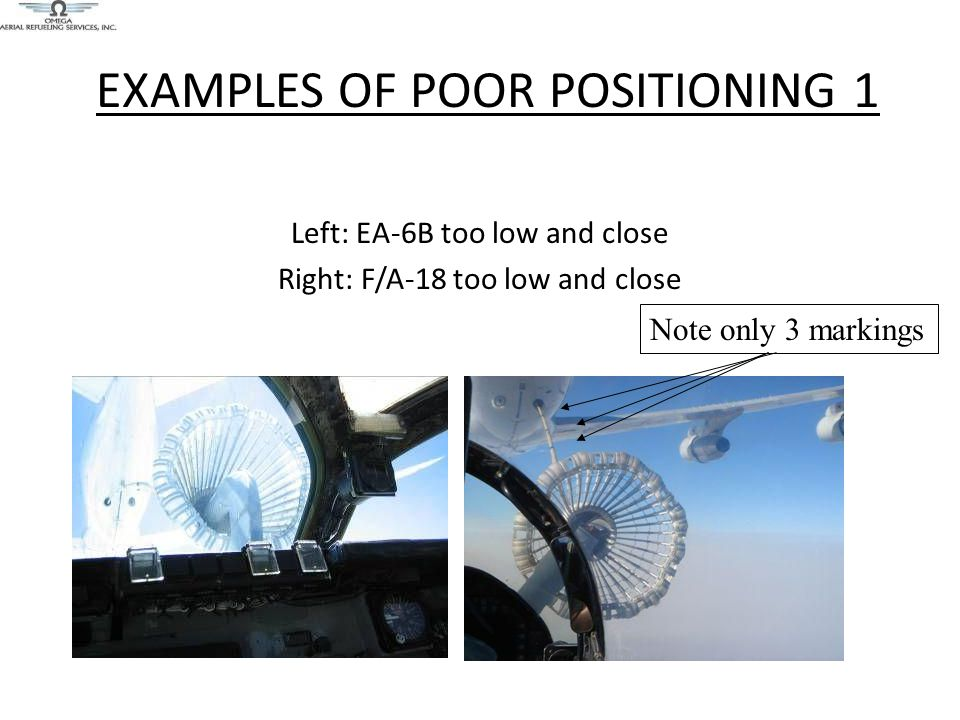 EXAMPLES OF POOR POSITIONING 1