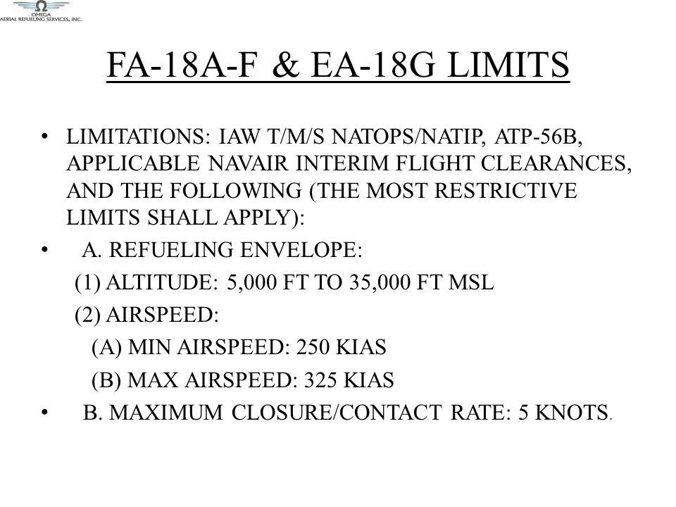 FA-18A-F & EA-18G Limits