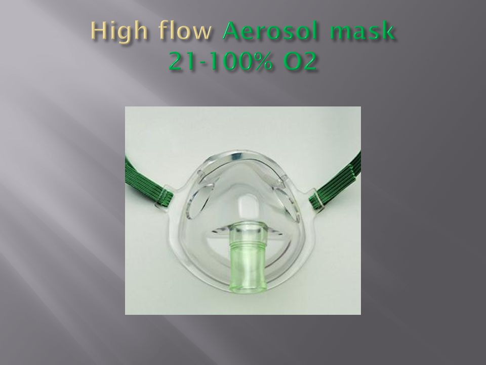 High flow Aerosol mask 21-100% O2