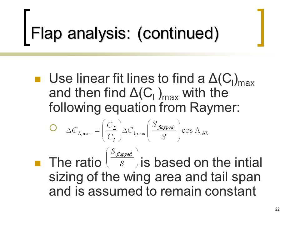 Flap analysis: (continued)