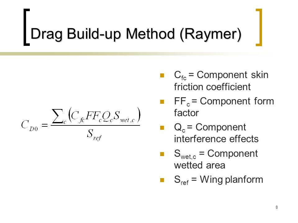 Drag Build-up Method (Raymer)