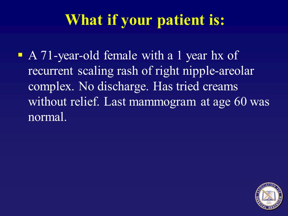 What if your patient is: