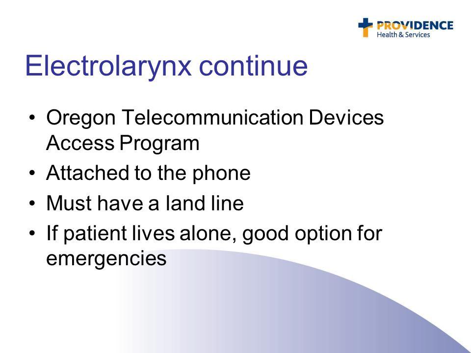 Electrolarynx continue