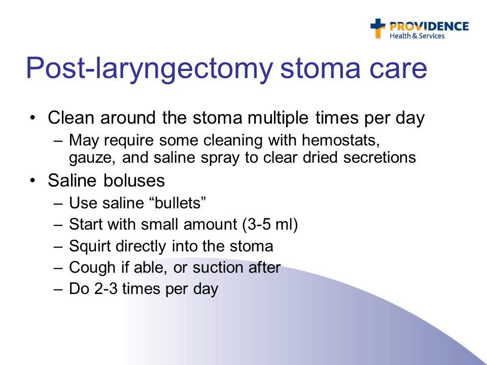 Post-laryngectomy stoma care