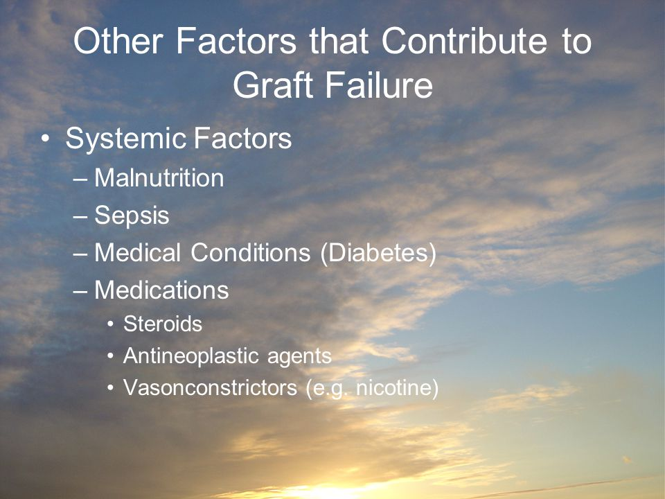 Other Factors that Contribute to Graft Failure
