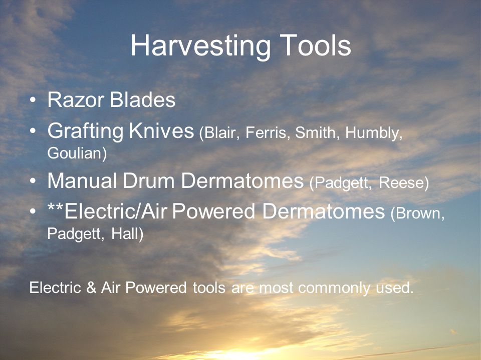 Harvesting Tools Razor Blades