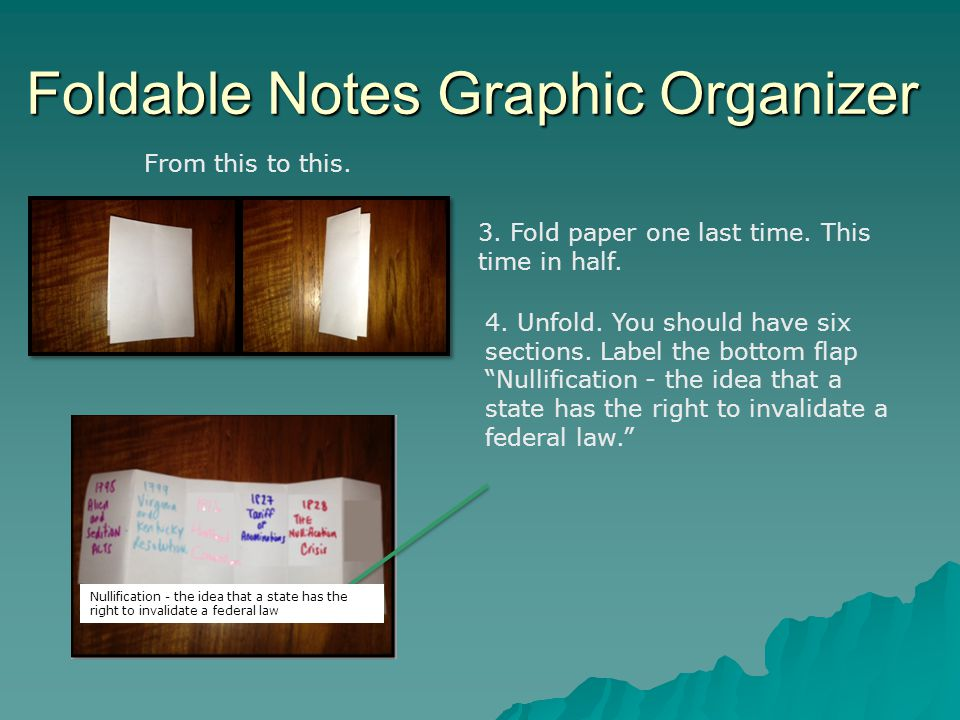 Foldable Notes Graphic Organizer