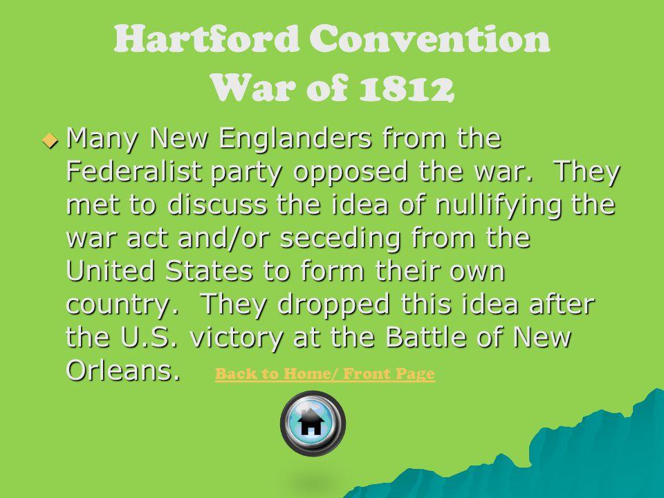 Hartford Convention War of 1812