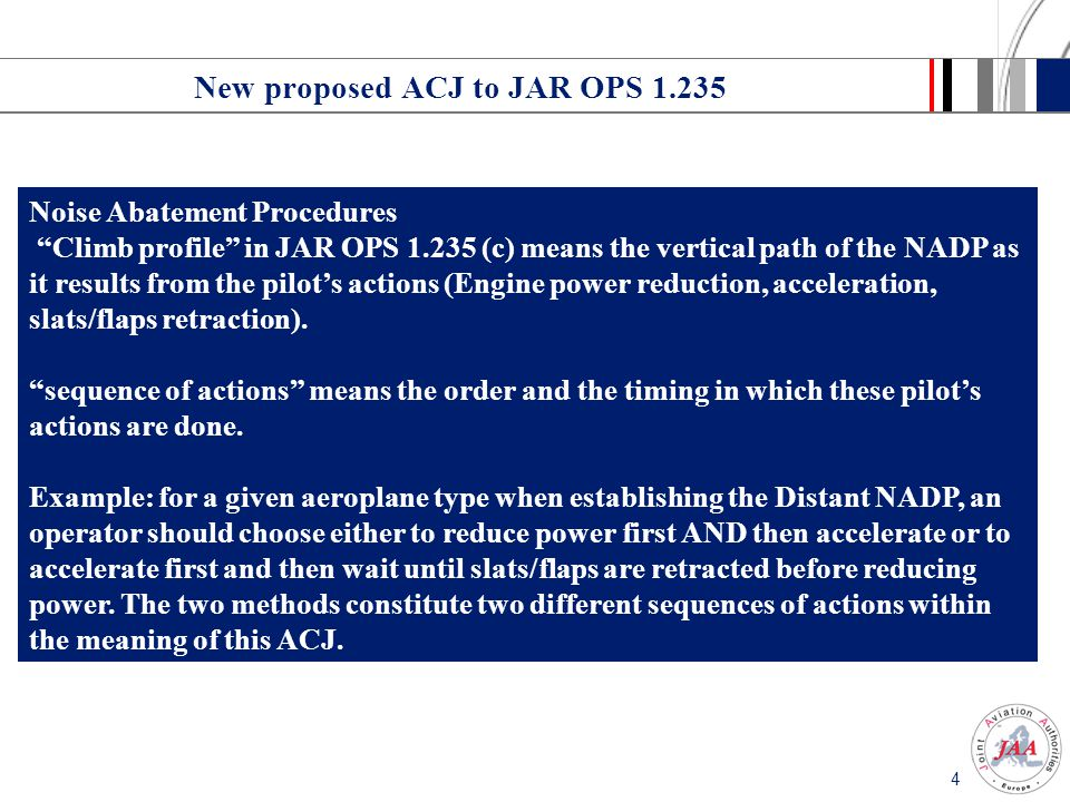 New proposed ACJ to JAR OPS 1.235