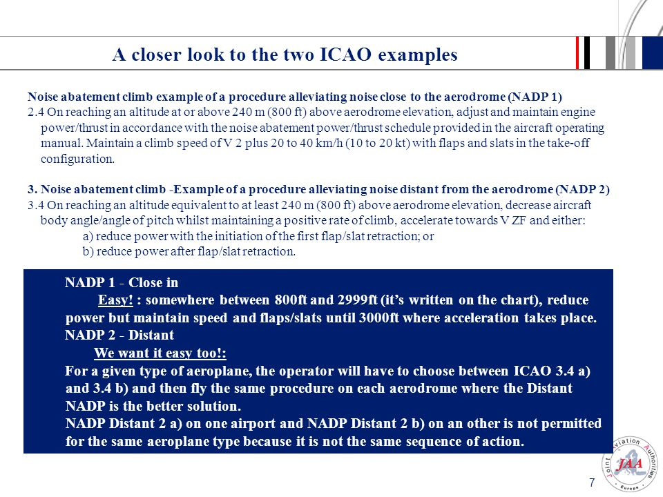 A closer look to the two ICAO examples