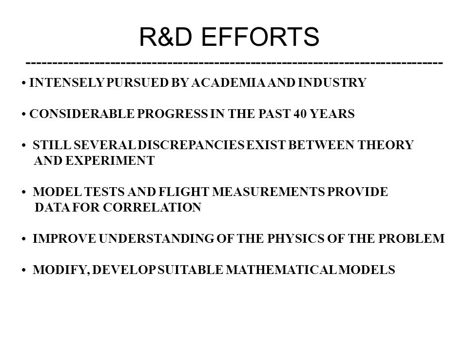 R&D EFFORTS -------------------------------------------------------------------------------- • INTENSELY PURSUED BY ACADEMIA AND INDUSTRY.