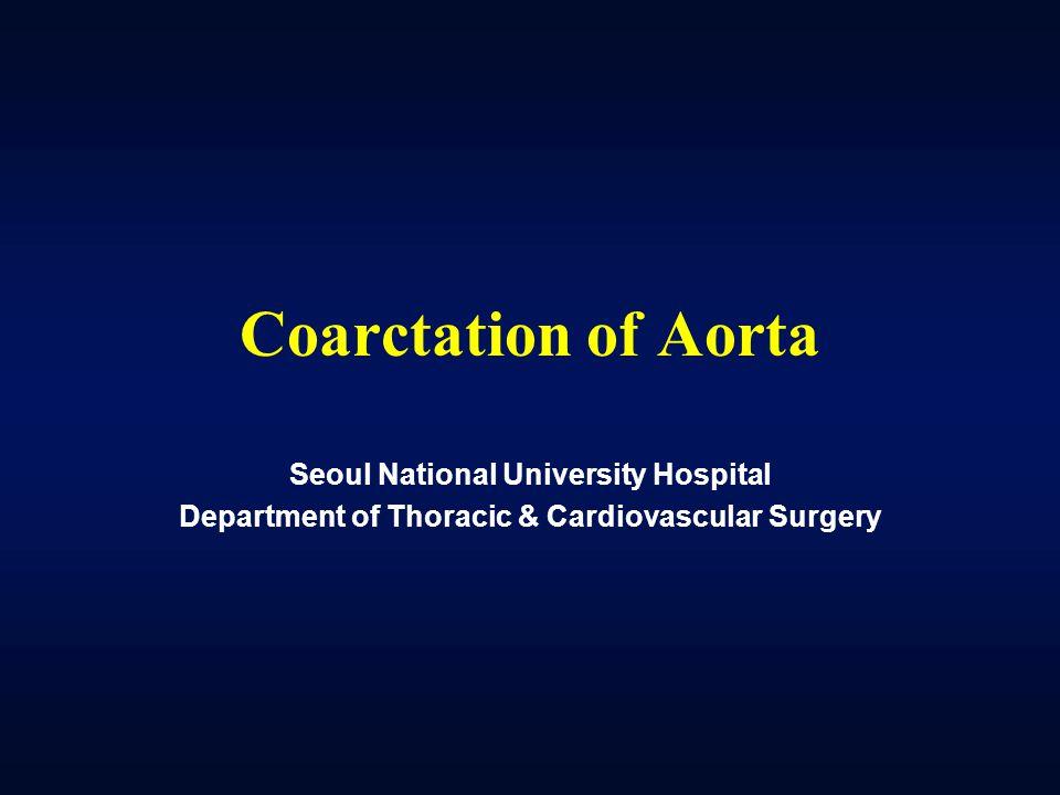 Coarctation of Aorta Seoul National University Hospital