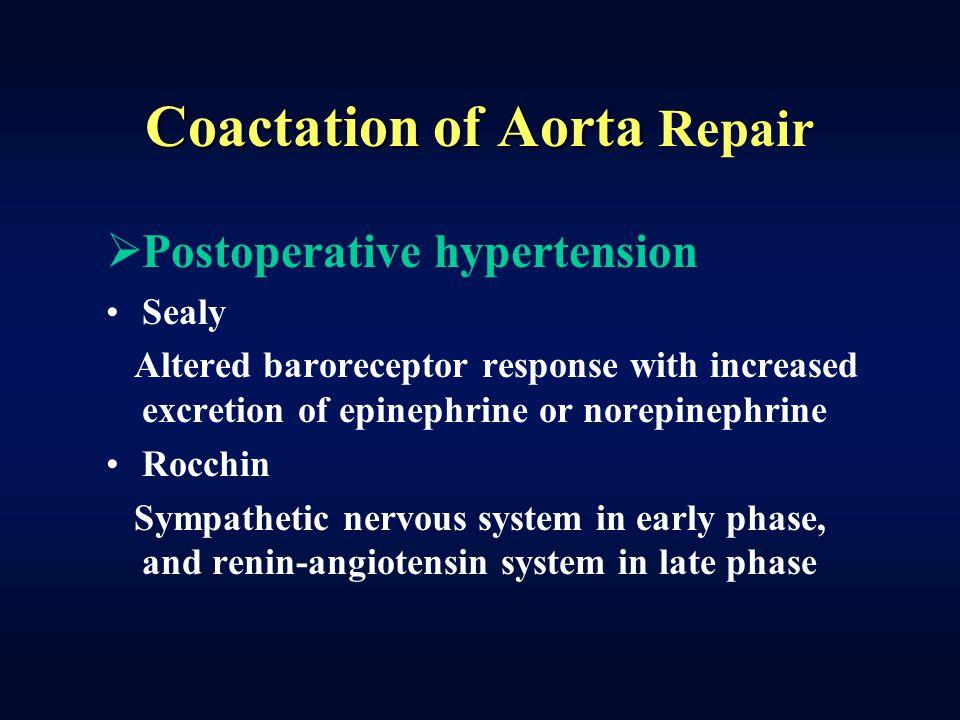 Coactation of Aorta Repair