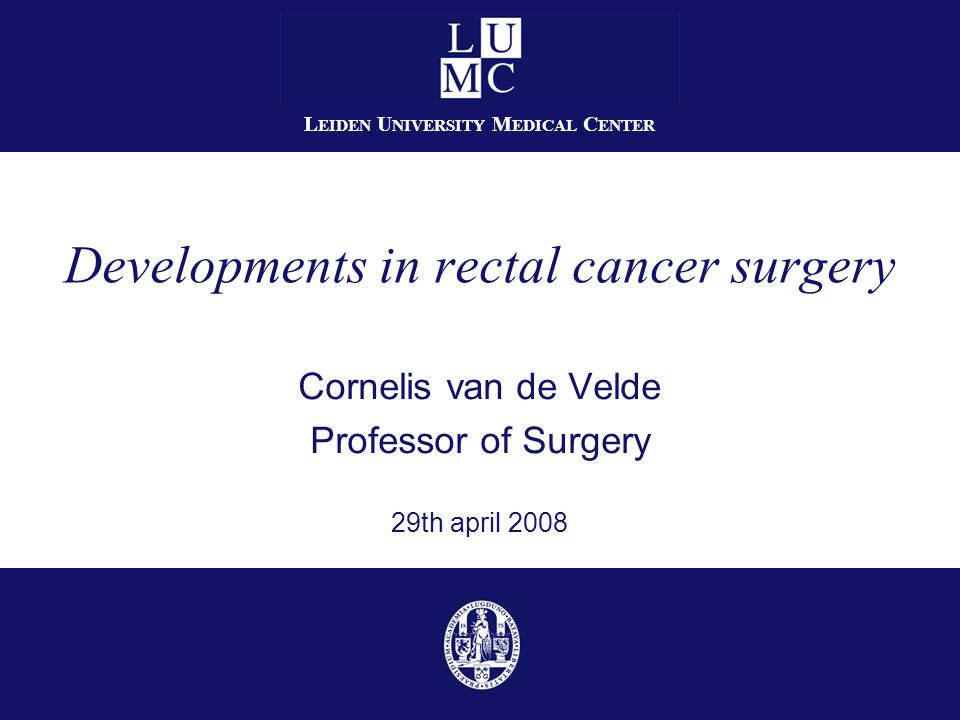 Developments in rectal cancer surgery