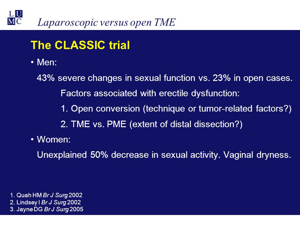 Laparoscopic versus open TME