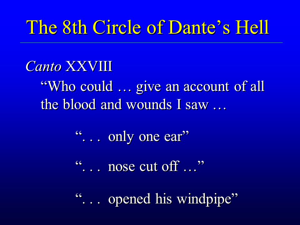 The 8th Circle of Dante's Hell