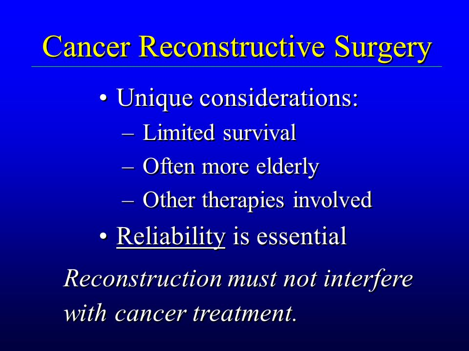 Cancer Reconstructive Surgery