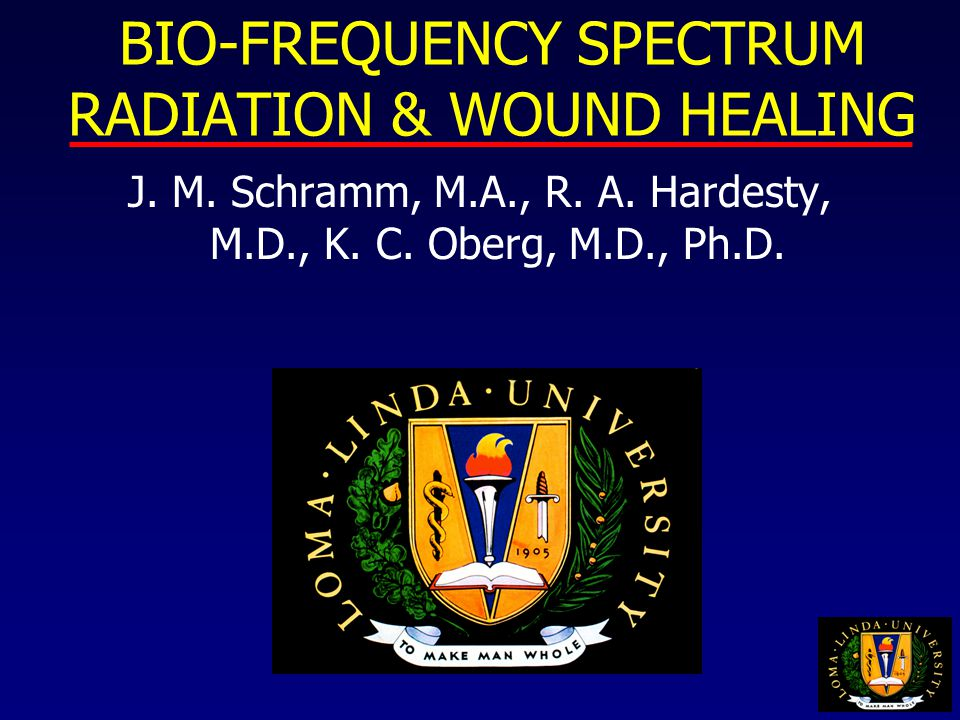 BIO-FREQUENCY SPECTRUM RADIATION & WOUND HEALING