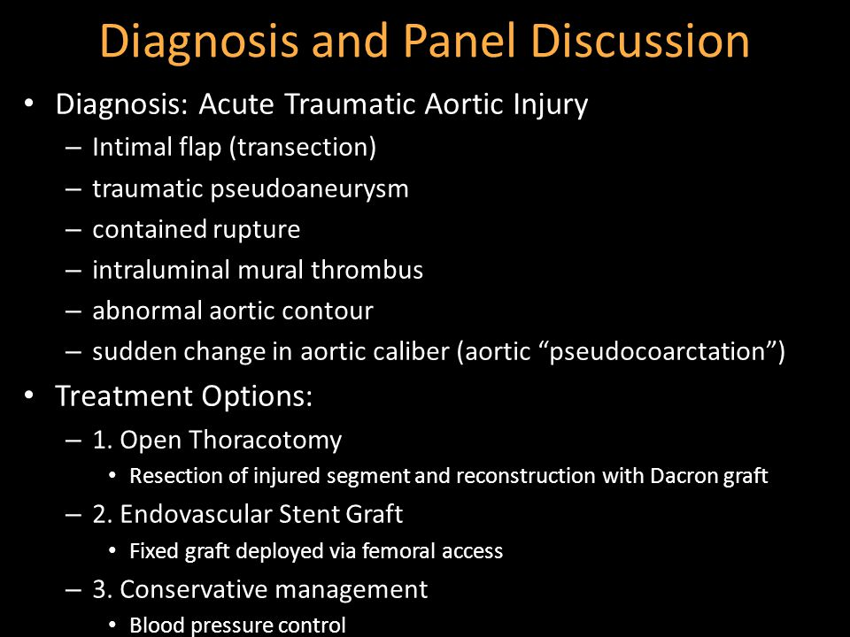 Diagnosis and Panel Discussion