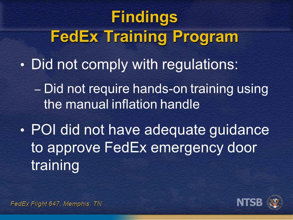 Findings FedEx Training Program