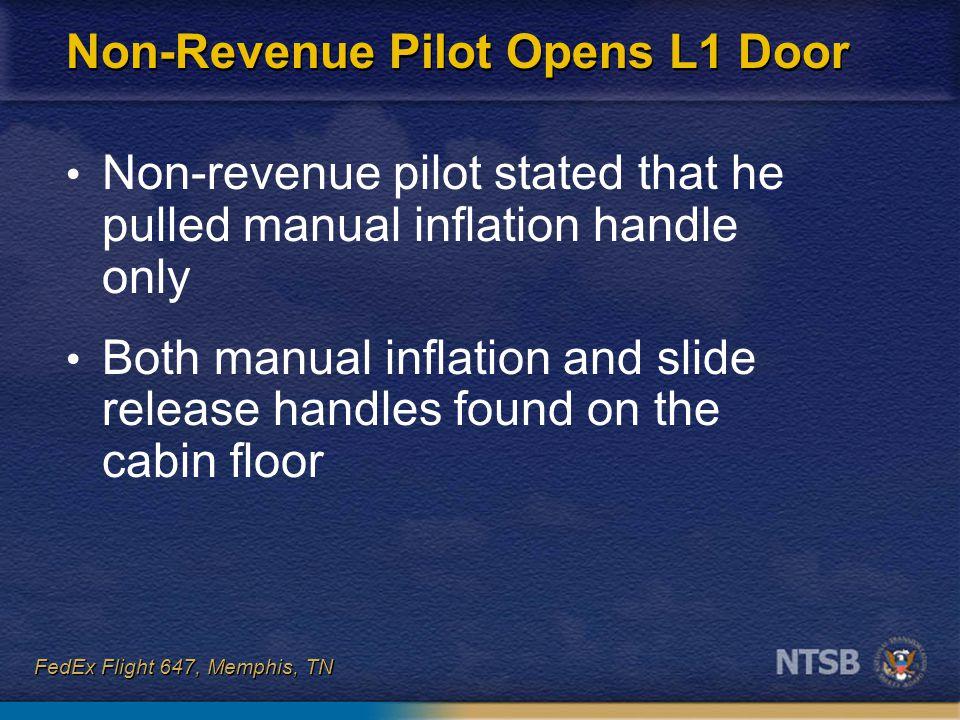 Non-Revenue Pilot Opens L1 Door