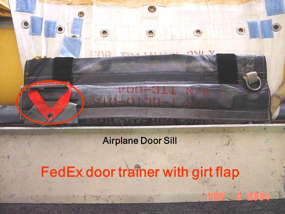 FedEx door trainer with girt flap