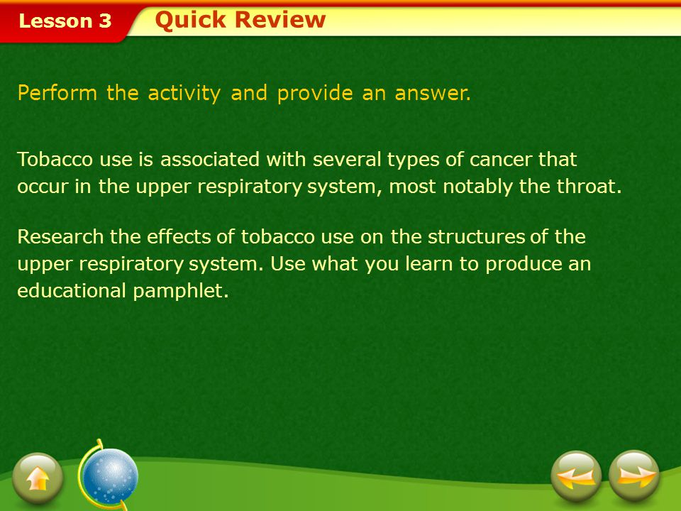 Quick Review Perform the activity and provide an answer.