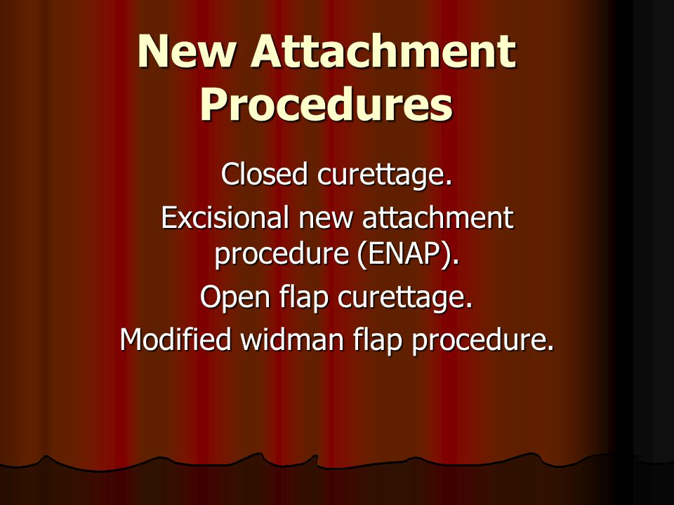 New Attachment Procedures