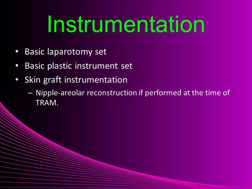 Instrumentation Basic laparotomy set Basic plastic instrument set
