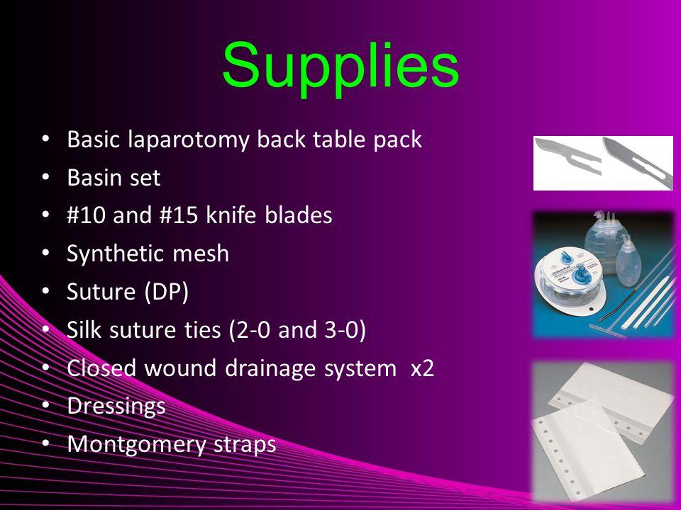 Supplies Basic laparotomy back table pack Basin set