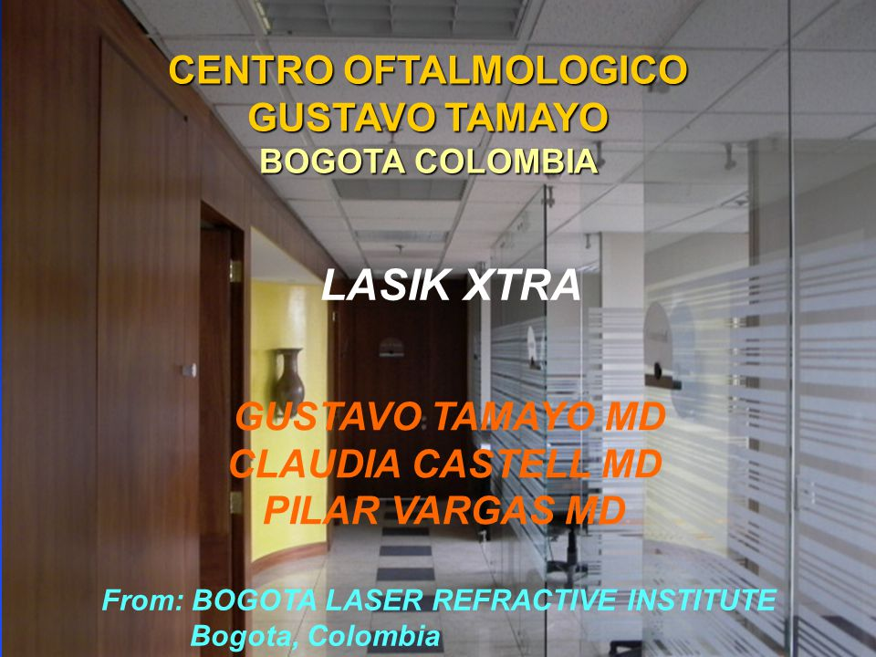GUSTAVO TAMAYO MD CLAUDIA CASTELL MD