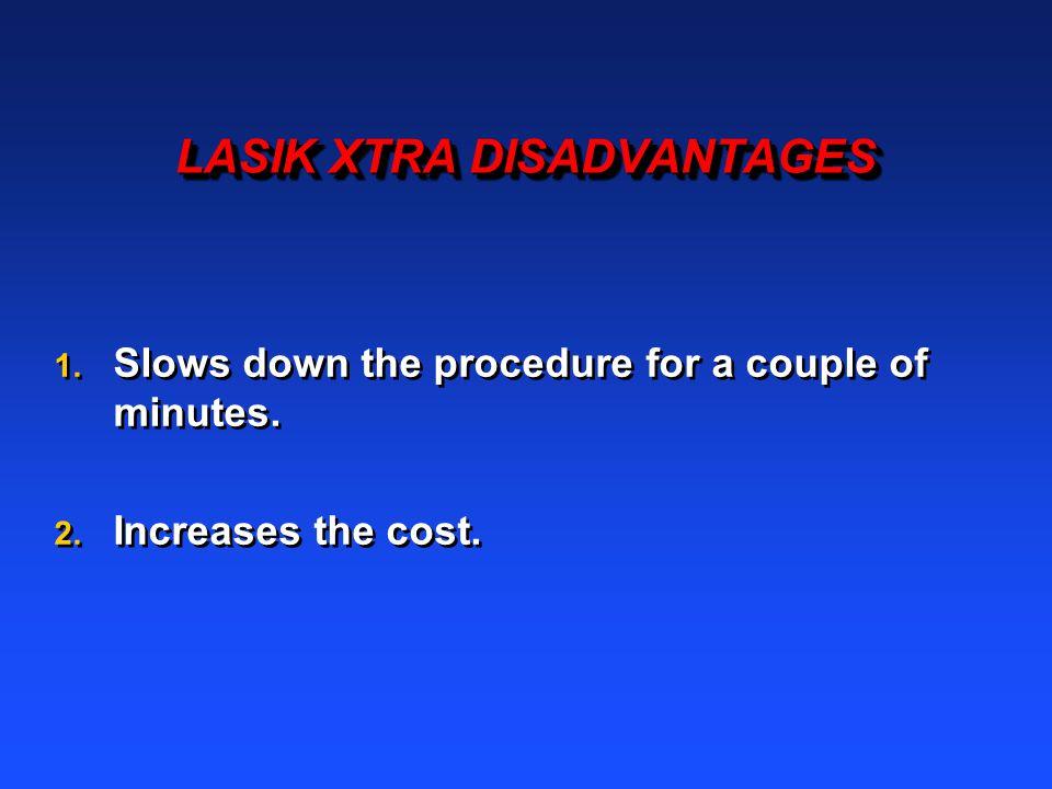 LASIK XTRA DISADVANTAGES