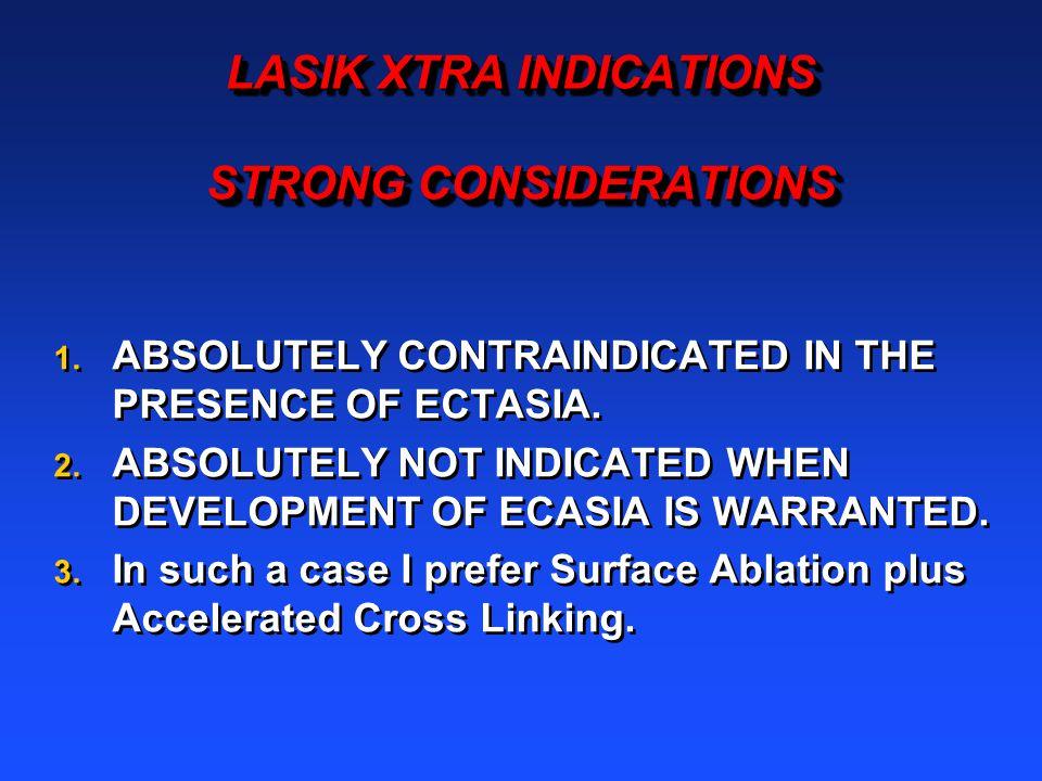 LASIK XTRA INDICATIONS STRONG CONSIDERATIONS