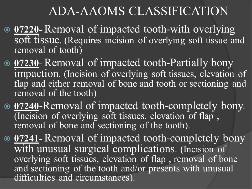 ADA-AAOMS CLASSIFICATION