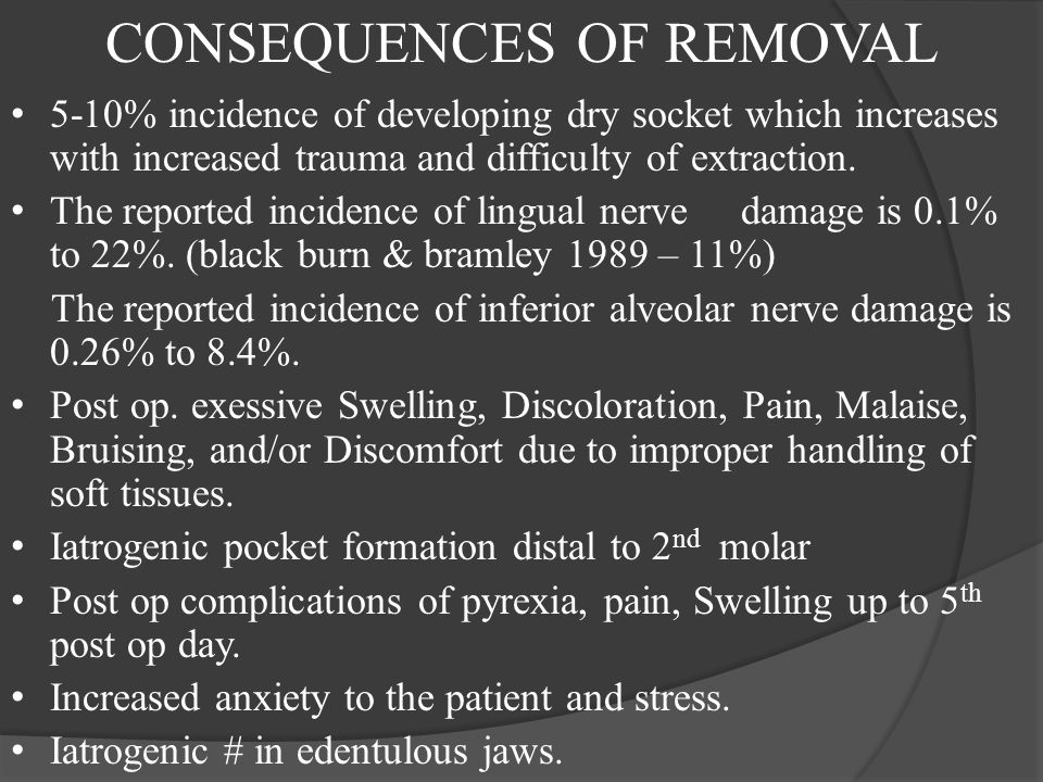 CONSEQUENCES OF REMOVAL