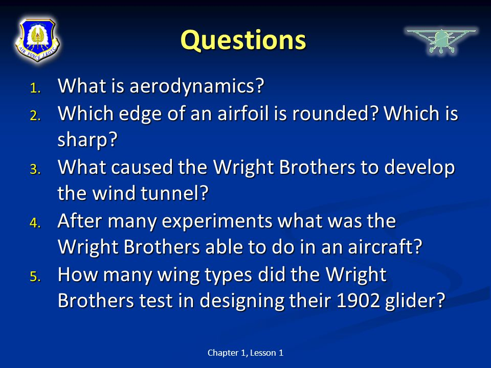 Questions What is aerodynamics