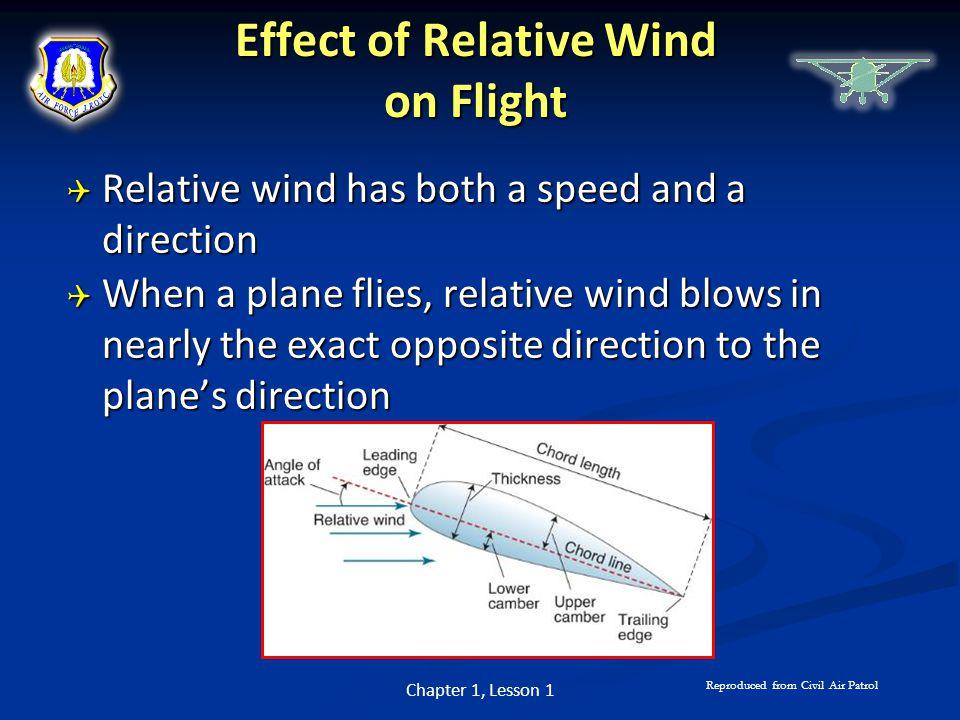 Effect of Relative Wind on Flight