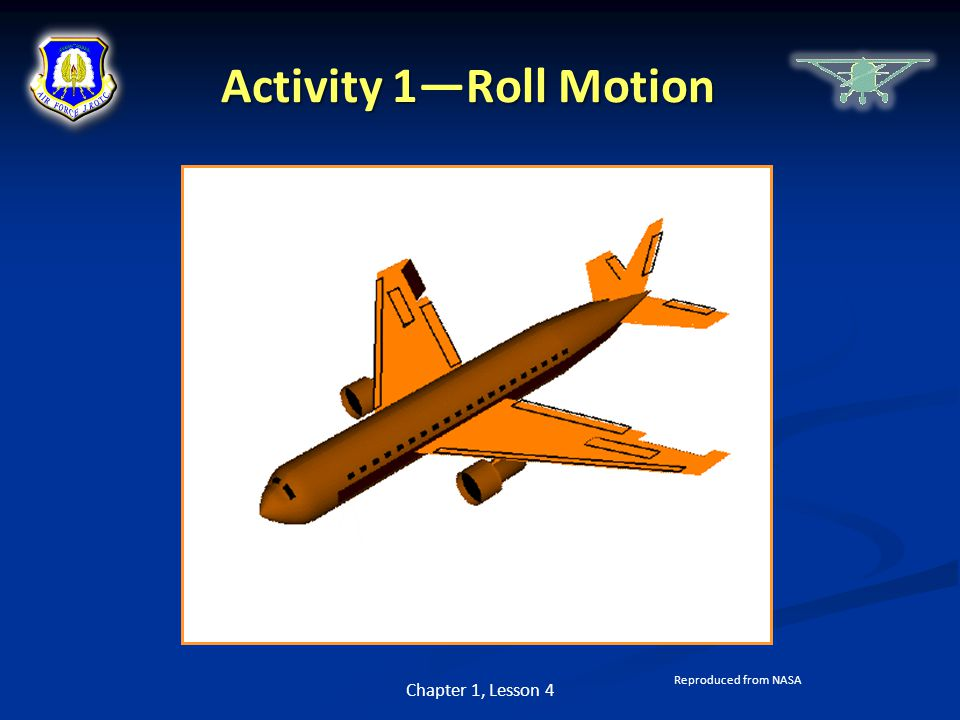 Activity 1—Roll Motion Chapter 1, Lesson 4 Reproduced from NASA