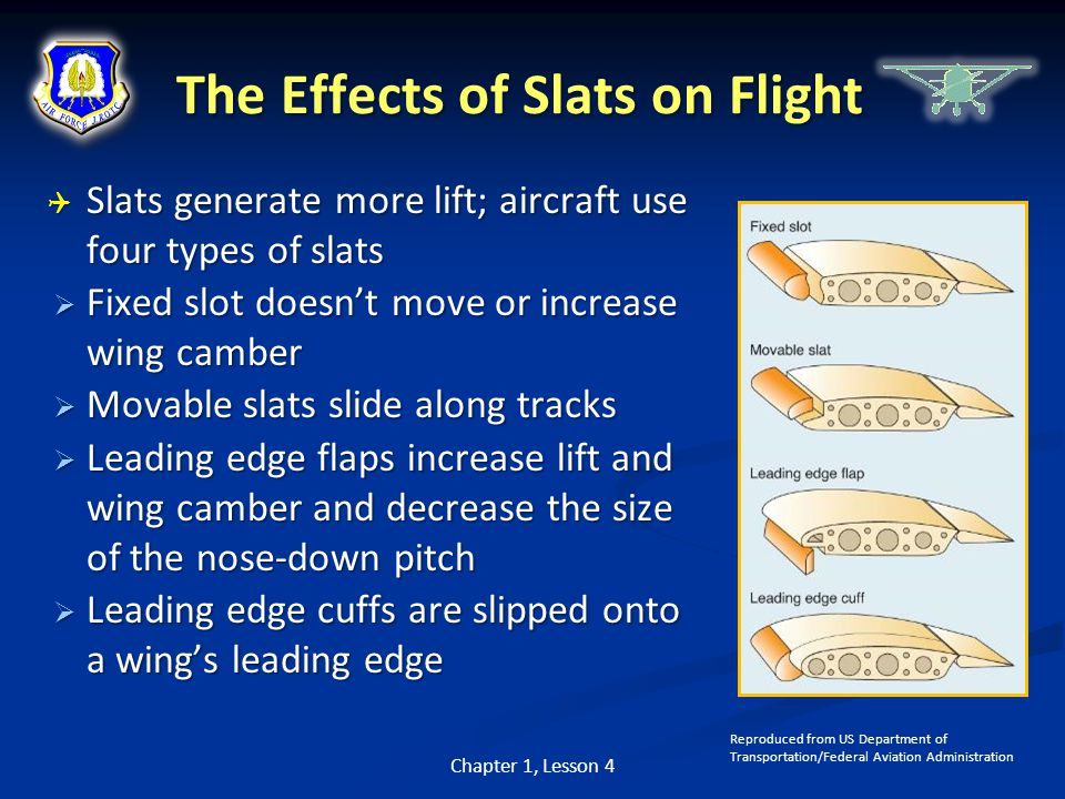 The Effects of Slats on Flight