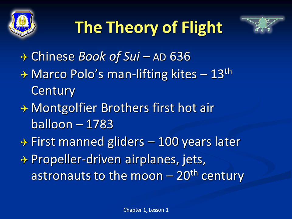 The Theory of Flight Chinese Book of Sui – AD 636